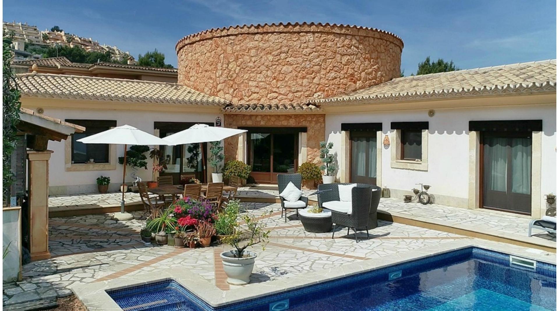 Villa rustique méditerranéenne à Santa Ponsa