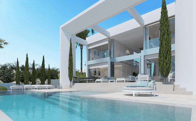 A modern Luxury Villa above Port Adriano