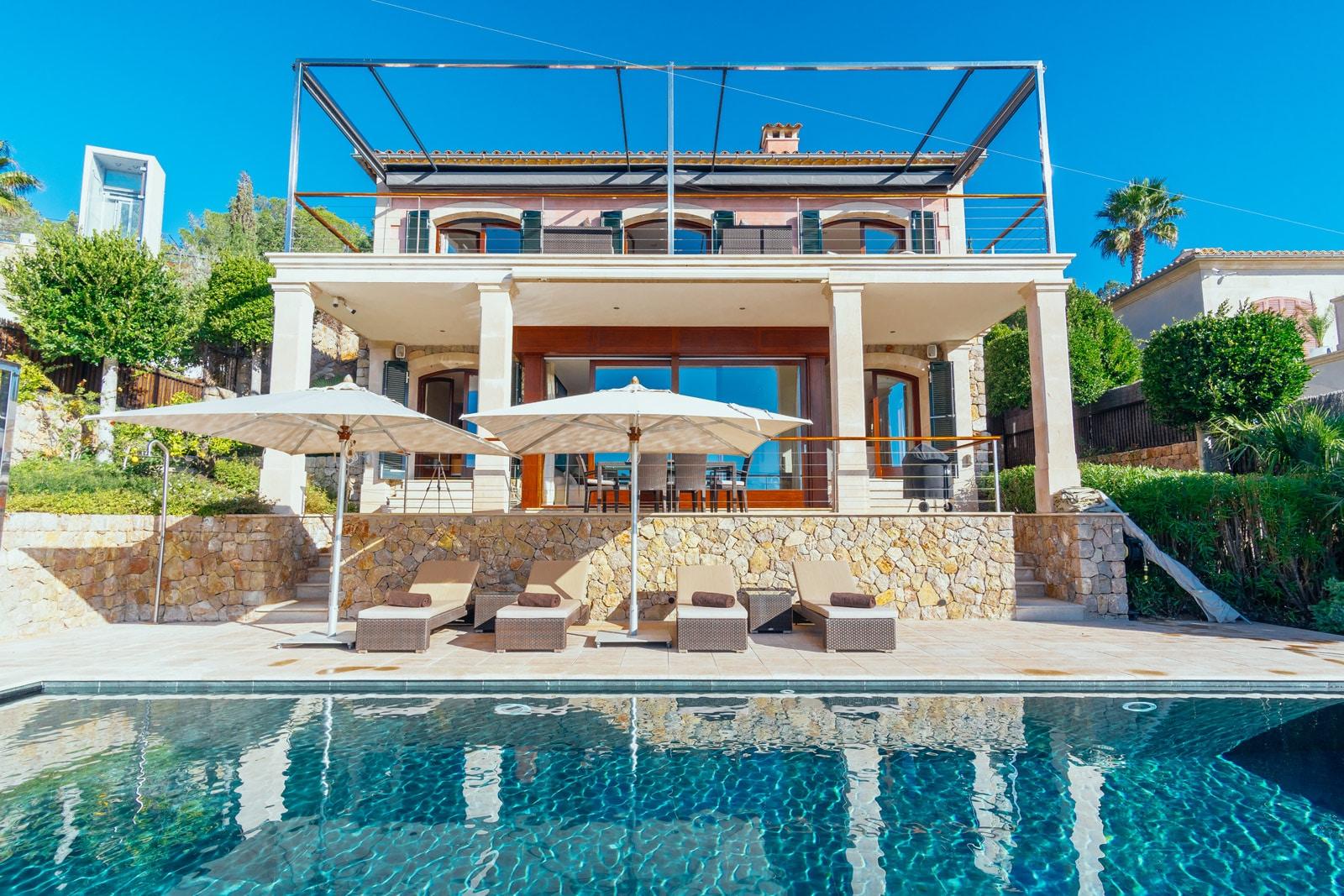 First Line Villa with Sea Access in Sol de Mallorca